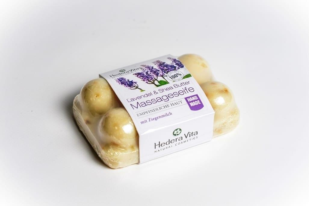 Lavendel Massageseife mit Ziegenmilch