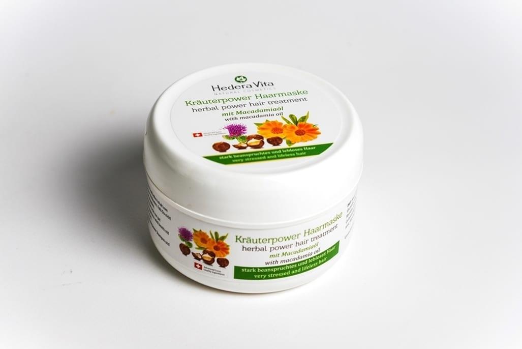 Kräuterpower Haarmaske mit Macadamiaöl