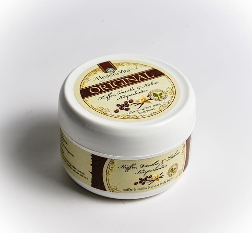 Körperbutter Kaffee, Vanille und Kakao 150 ml